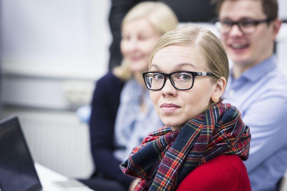Kuvassa tutkija Enni Ruokamo. Kuva Kati Leinonen.