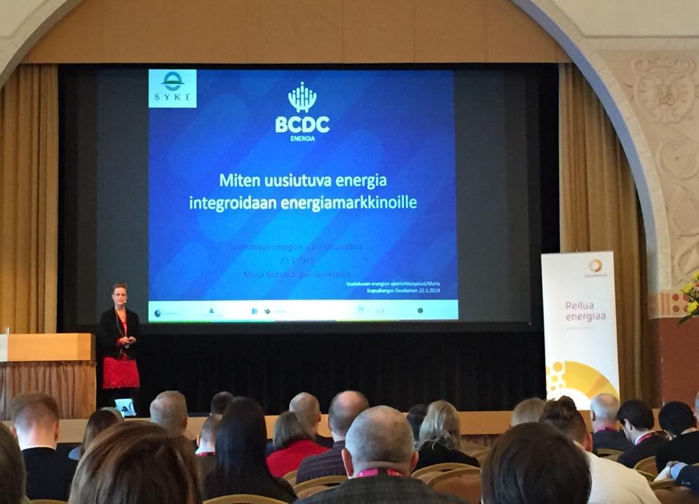 maria kopsakangas-savolainen, bcdc energia, energiavirasto, uusiutuvan energian ajankohtaispäivä, energiamarkkinat, uusiutuva energia